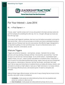 The LeadershipTraction Newsletter | June 2014