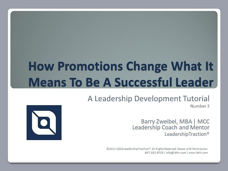 Another Leadershp Tutorial (03) from LeadershipTraction®