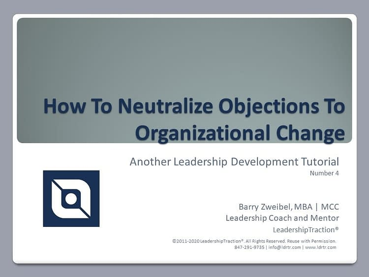 Another Leadershp Tutorial (04) from LeadershipTraction®