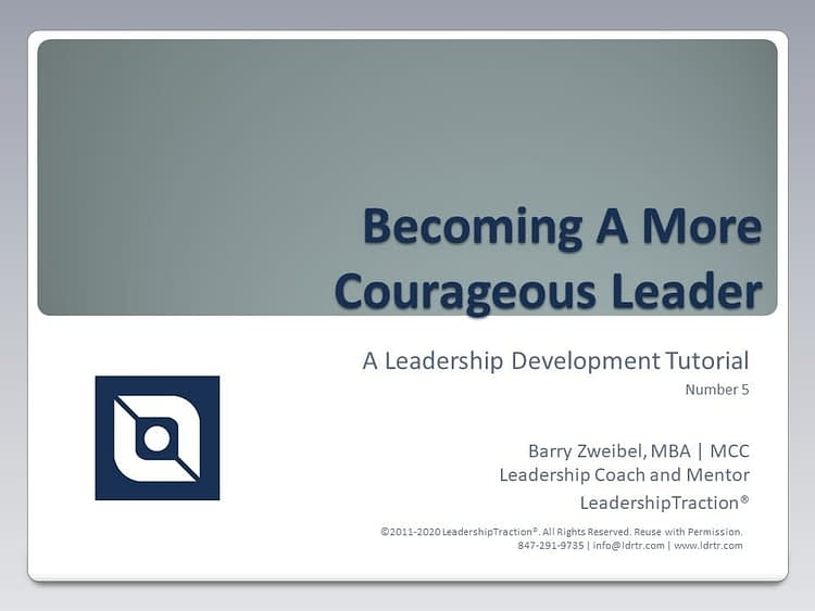 Another Leadershp Tutorial (05) from LeadershipTraction®